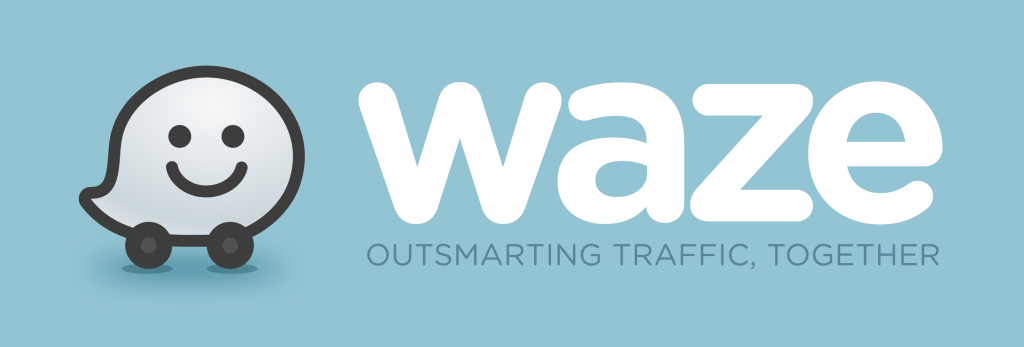 Waze Logo_Blue with Tagline